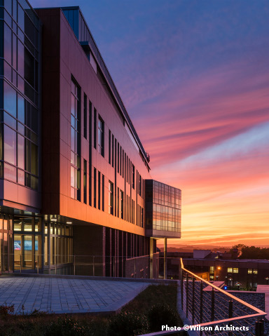 Photo of Beaupre Center at sunset