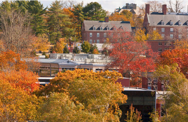 photo of URI campus in autumn