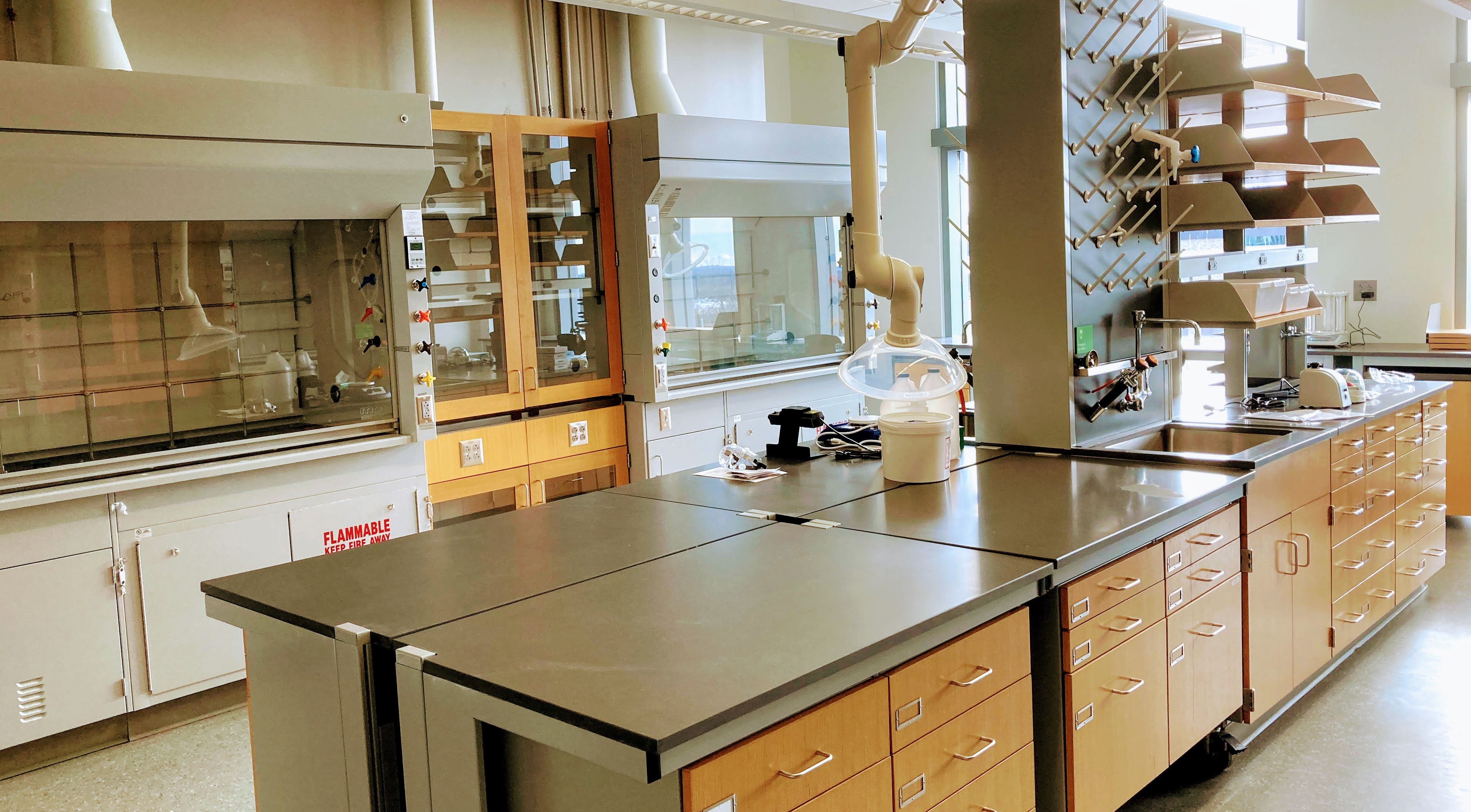 Figure 1. Chemistry laboratory in the Beaupre Center